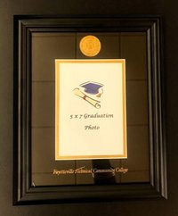 PHOTO FRAME WITH NAME AND MEDALLION