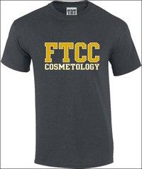 FTCC COSMETOLOGY Dark Heather Adult Short Sleeve Tee