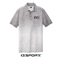 LC LOGO OMBRE HEATHER POLO