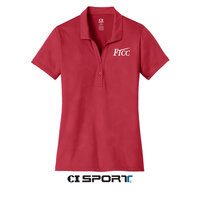 LADIES EMBOSSED POSICHARGE TOUGH POLO