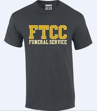 FTCC FUNERAL SERVICE Dark Heather Adult Short Sleeve Tee