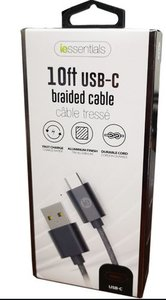 iessentials 10ft Braided USB Lighting Cable
