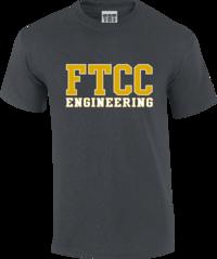 FTCC DARK HEATHER ENGINEERING ADULT SS TEE