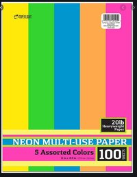 40105 NEON 11X8.5 MULTIPURPOSE PAPER